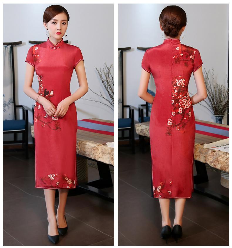 喜气中国红旗袍,耀眼的中国韵味美!
