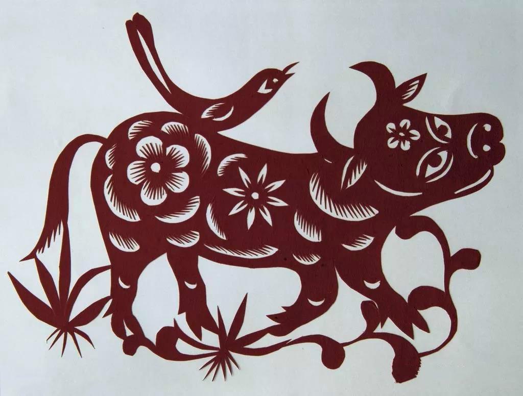 12款牛剪纸欣赏:牛气冲天