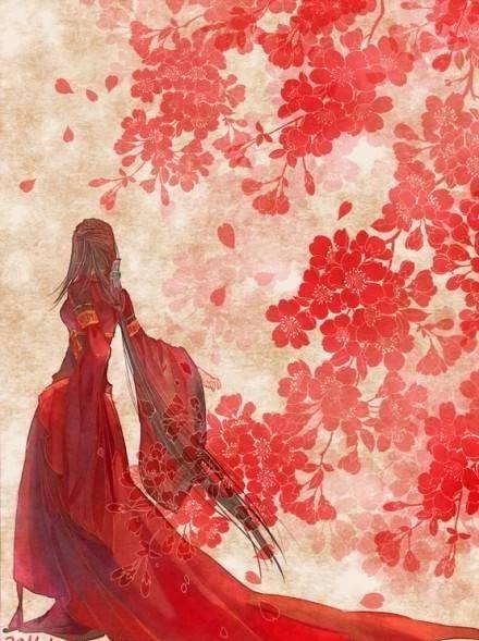 13款惊艳红衣古风图片,唯美意境图片!