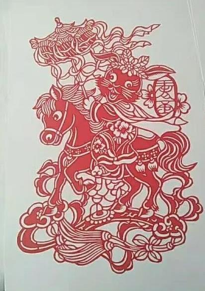 北京兔爷剪纸——燕山王老歪作品