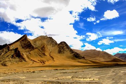 蓝天白云,晴空万里风景图