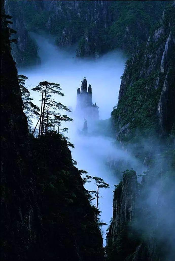 荷花风景图片_大美黄山:40幅黄山风景摄影!- 中国风
