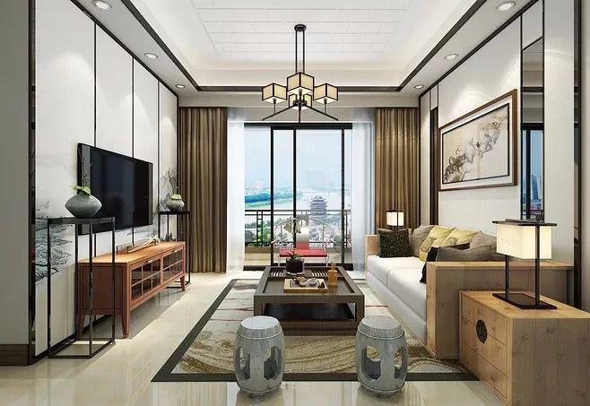新中式客厅之美:魅力十足的中式装修设计!
