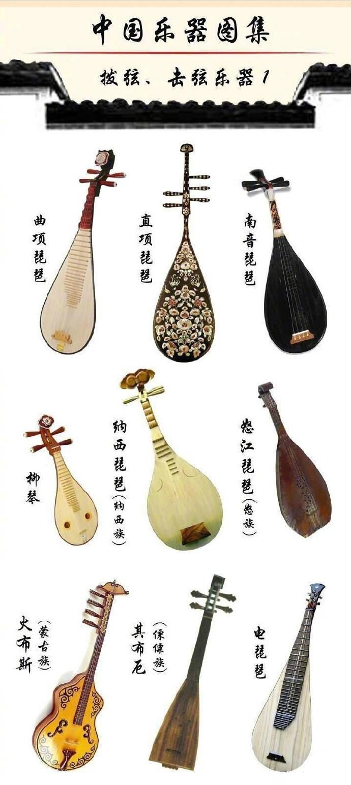 中国乐器图集:种类繁多的乐器大全