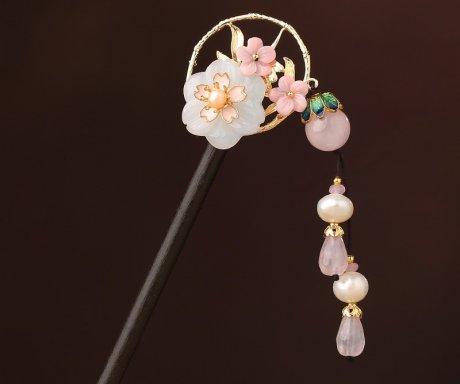 空坐花别发簪:中式古典风簪子
