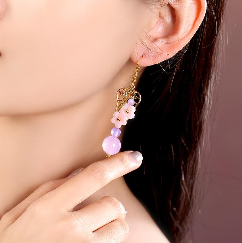 浅夏安然耳环:民族风小清新耳环首饰