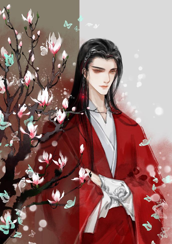 10张古风美男子图集,如此惊艳的红衣之美