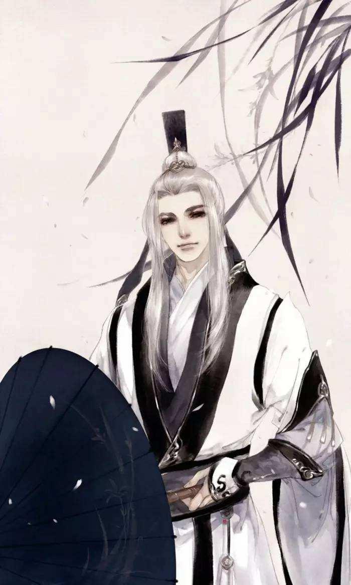 20张白发古风美男图集,满头银发真的好迷人