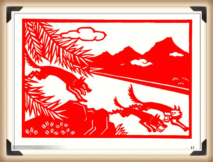 斗狼记剪纸艺术,高清剪纸连环画图集(54张)