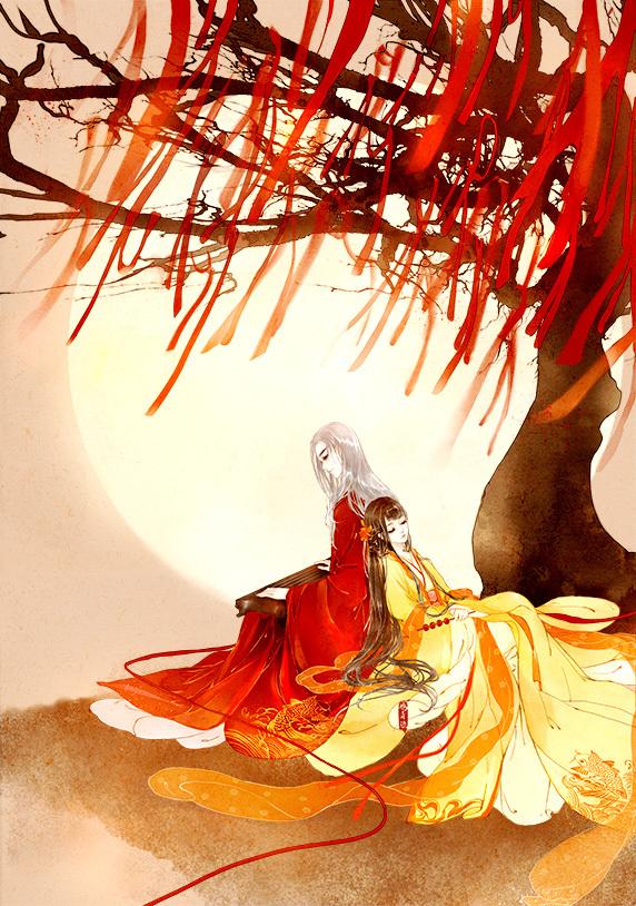 爱情故事故事动漫图片_高清古风情侣图集(52张),超恩爱甜蜜的古风图片- 中国风