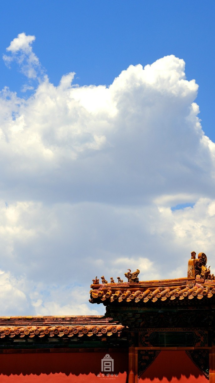 超美故宫古建筑图片,紫禁之巅白云无尽