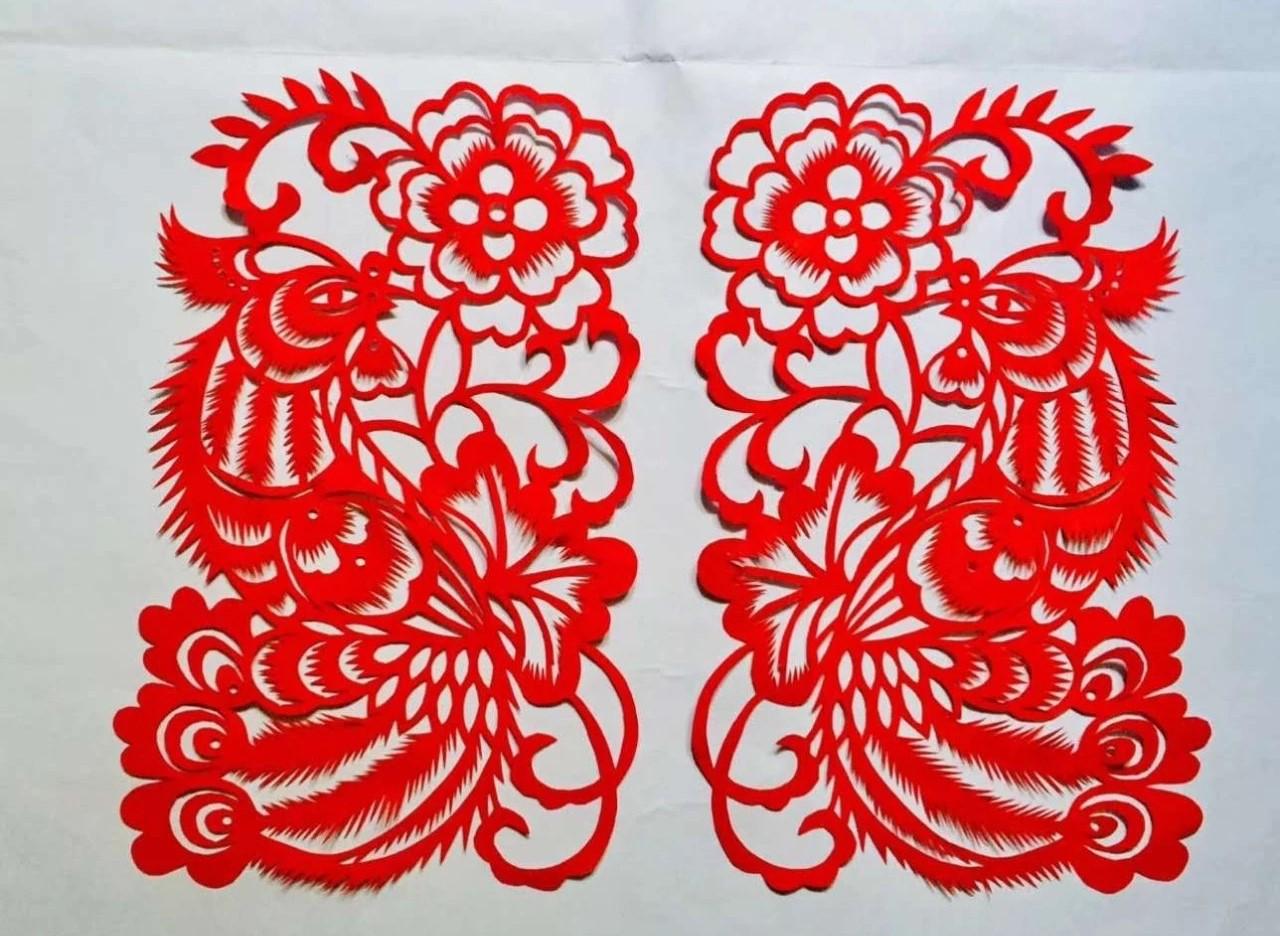 信手剪花花灿烂(20张),张彬老师剪纸作品