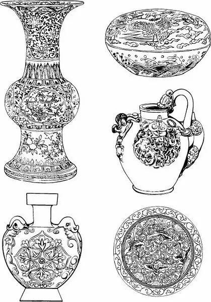 青花瓷素材图案欣赏,中国传统艺术就是这么美