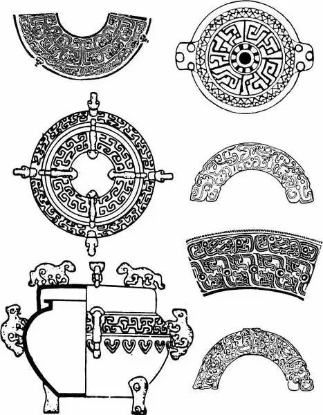 中国传统图案纹样之青铜器,美得惊心动魄!