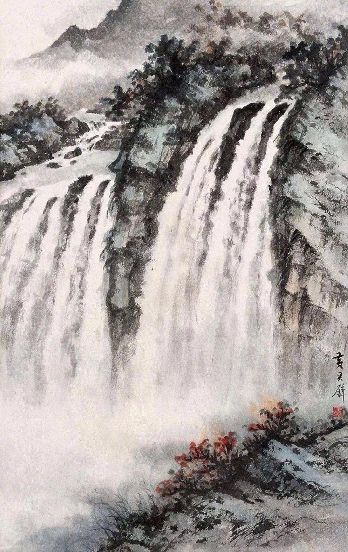 国画山水图集(41张),高清国画图片欣赏
