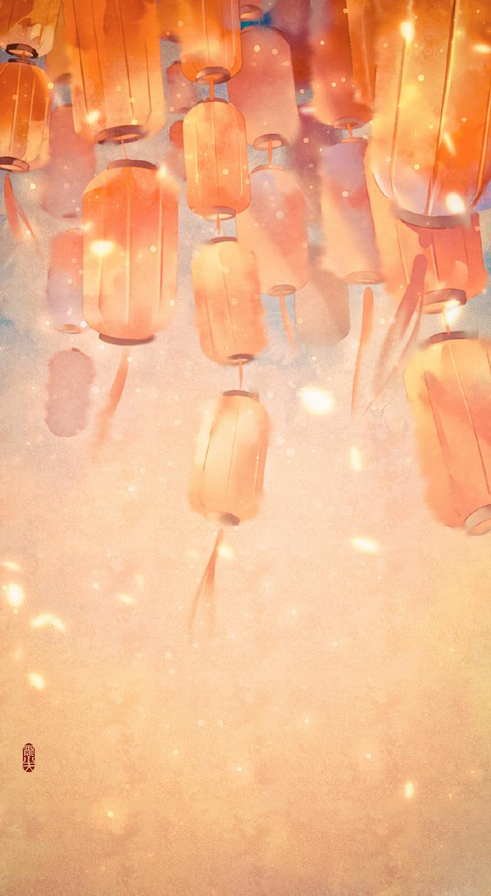 18张超美的花灯古风图片,可做手机壁纸的图集