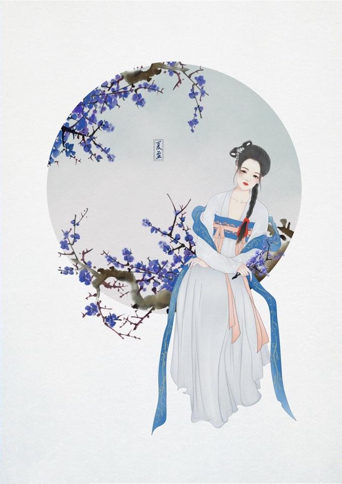 24节气古风手机壁纸图片,超美的女子古风图片