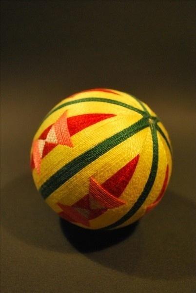 精美的手工手鞠球工艺品,丝线缠绕的艺术品!