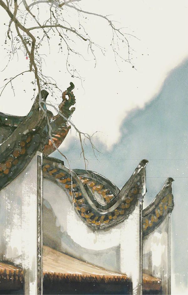 唯美古风图片壁纸素材,有意境的屋檐之美!