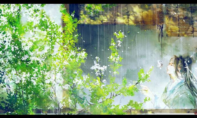 花香满溢的古风图片,春天意境的唯美古风图片