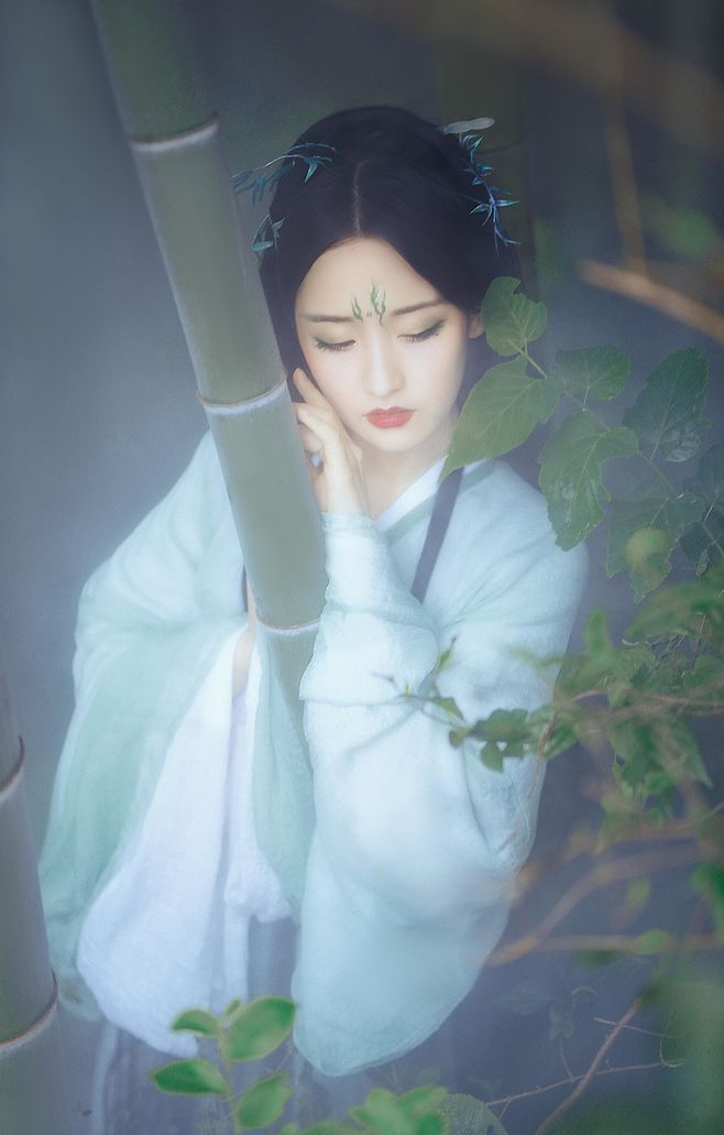 竹间女古风摄影:一榻清风,故山邂逅欣相遇