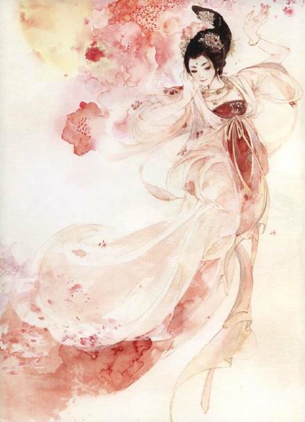 好看的古风水彩美人图,值得收藏的古风图片