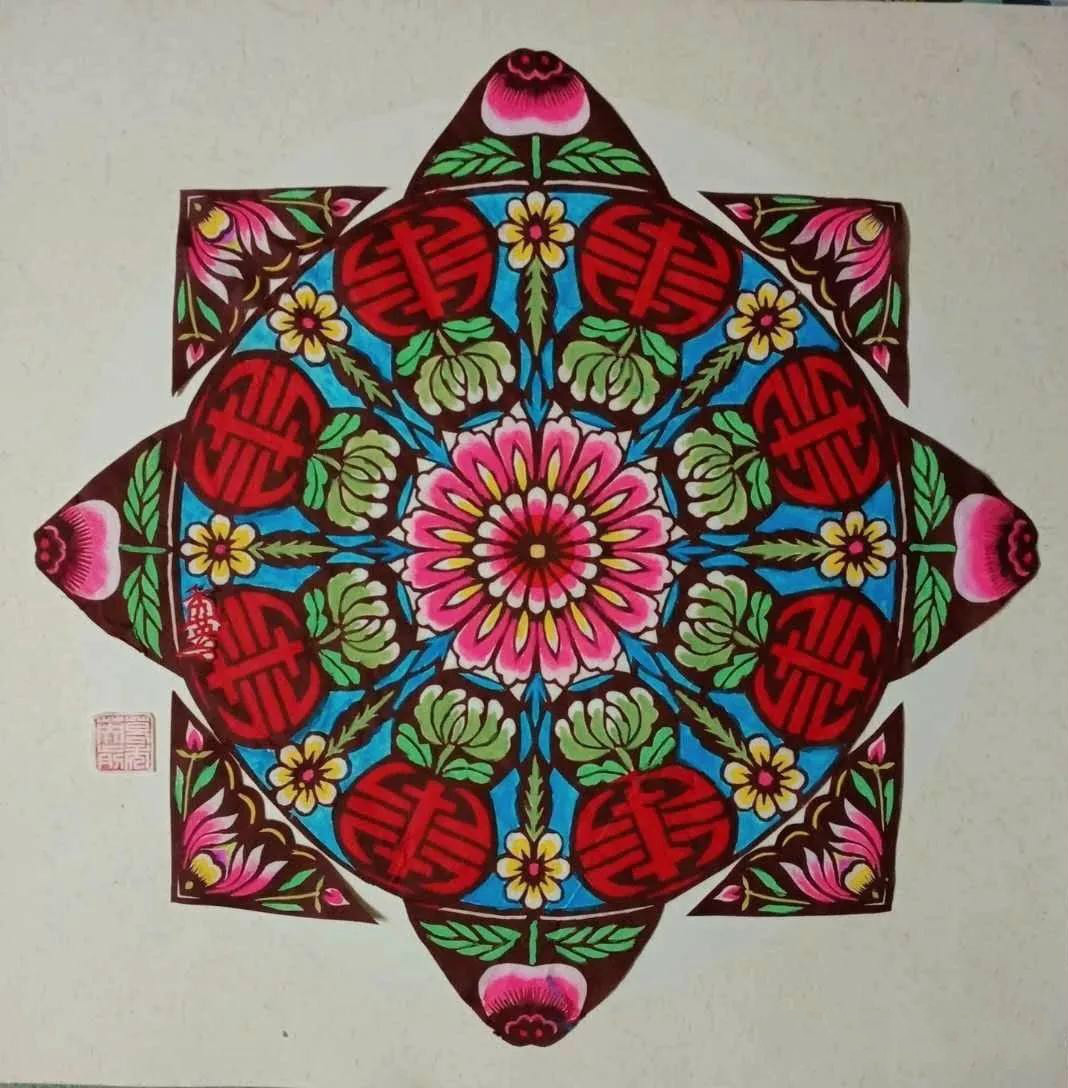 葛秀英剪纸作品欣赏,复工复产富家园剪纸艺术