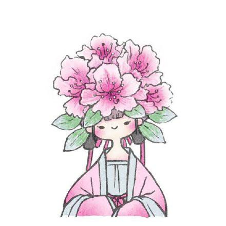 古风花卉拟人情人头像,一组好看的手绘古风头像