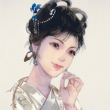 惊艳的手绘古风头像,古风水彩美人头像图集