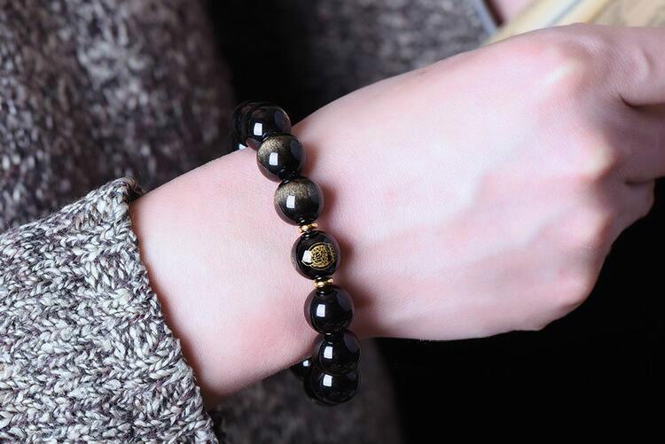 黑曜石手链特点有哪些,黑曜石手链颗数的意义