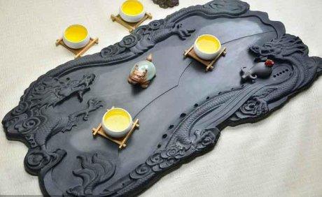 精品高端立体浮雕茶具2