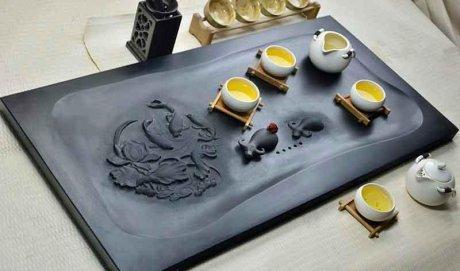 精品高端立体浮雕茶具5