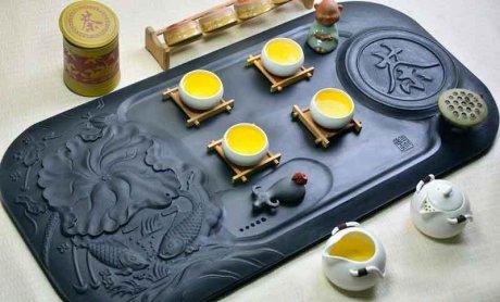 精品高端立体浮雕茶具1