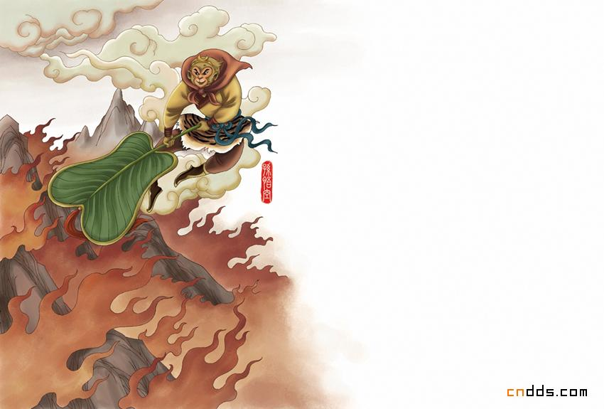 西游记水墨画_激情上演的西游记插画设计欣赏- 中国风