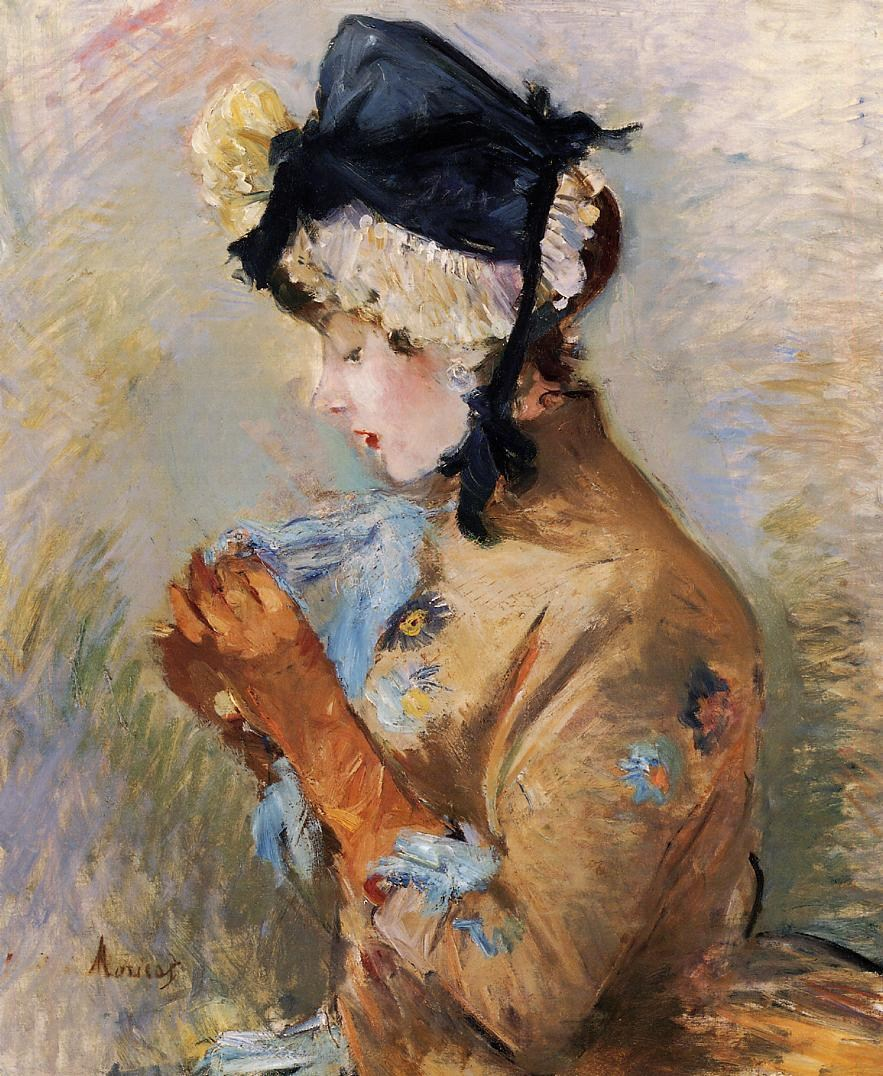 法国画家贝尔特·莫里索(Berthe Morisot)油画作品