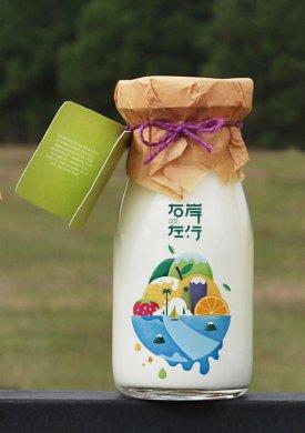 右岸左行系列包装是酸奶包装系列