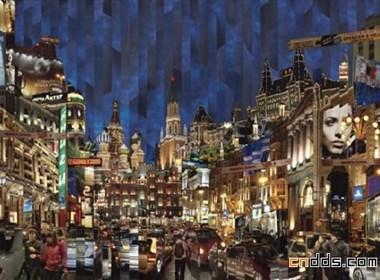 俄罗斯艺术家现代城市拼贴艺术