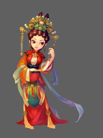 古风人物图片素材_Q版中国风人物设定_中国风