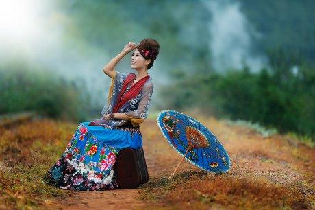 古韵风情唯妙自然美服饰摄影艺