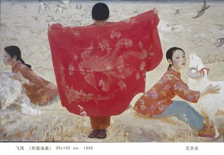 王沂光的中国风油画作品(一)