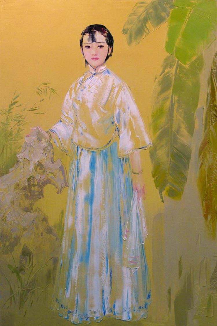 刘文进意象中国传统人物油画(一)