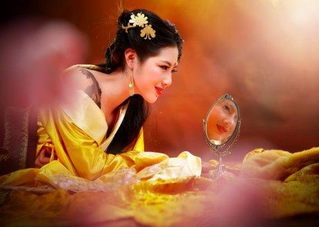 镜中花主题古风美女摄影艺术