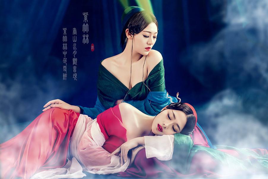 紫竹林唯美中国风创意摄影艺术
