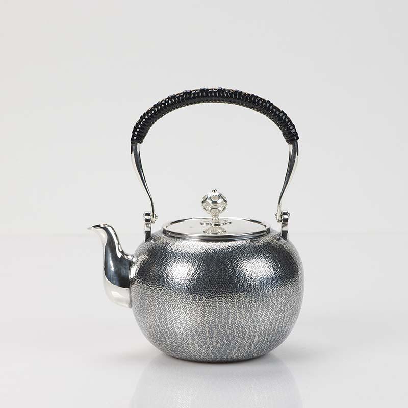 精美的足银复古提梁壶艺术(二)