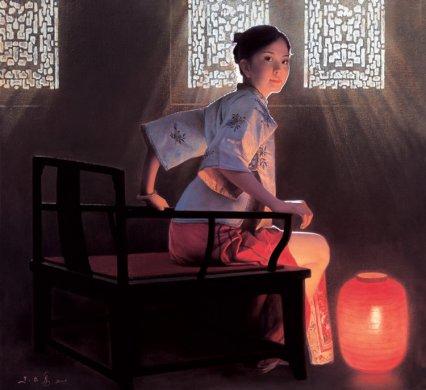 中国画家朱毅勇油画艺术作品