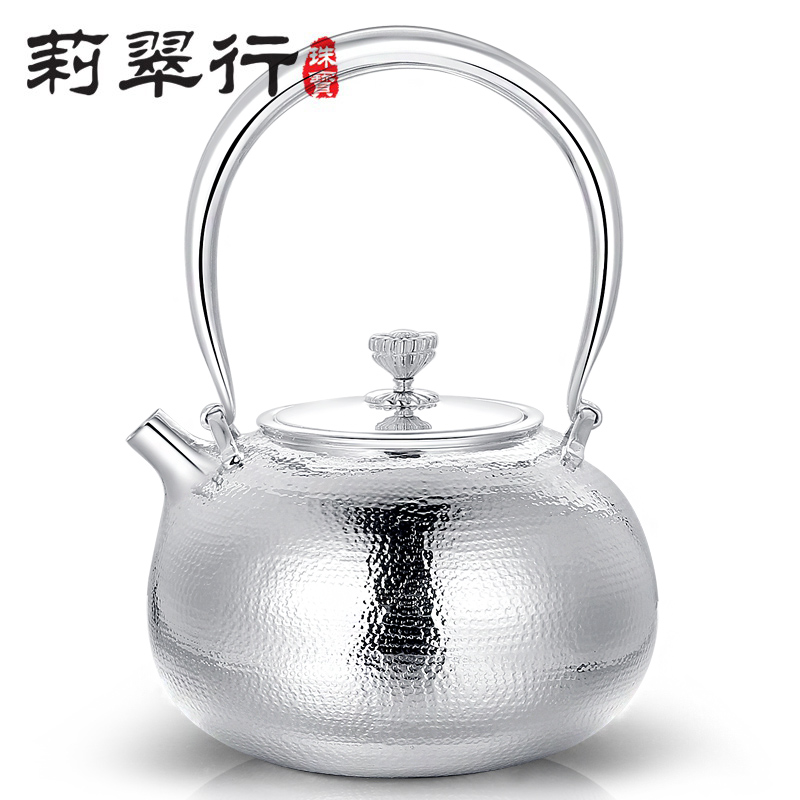精美的足银复古提梁壶艺术(一)